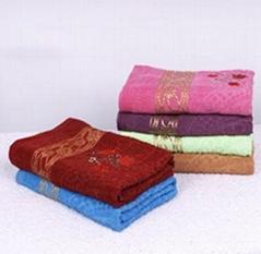菊花条纹多色加厚加大柔软蓬松毛巾