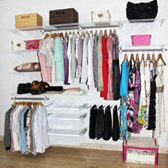 Ingenious wire closet she  ing kits for all wardrobes