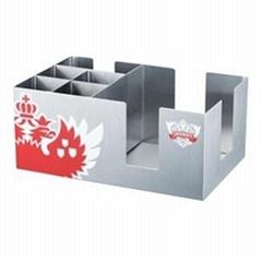 BC001 Stainless Steel Barware Rectangle Bar Caddy Paper Holder Napkin Holder