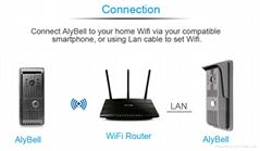 AlyBell H.264 720P Wifi doorbell camera wireless Video Doorbell system Support i