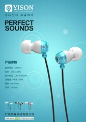 IN EAR STYLE PEARL LOOKING  METAL EARPHONE  WITH HIFI STEREO AND DEEP BASS