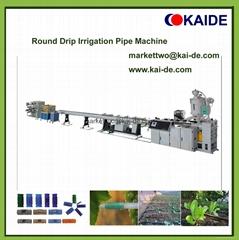 PE 16mm Round Drip Irrigation Pipe Making Machine