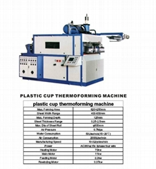 plastic cup thermo forming machine