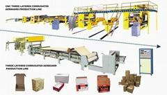 3層瓦楞紙紙箱生產線