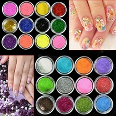Many Color Nail Art Dust Glitter Powder DIY Decoration Uv Acrylic Gel Tips