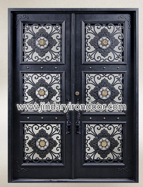 Custom and Ornamental Iron Steel Entrance Doors 1 ... & Custom and Ornamental Iron Steel Entrance Doors - JDL-M-039 - Jin ...