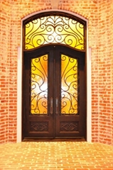 Wrought Iron Entrance Door
