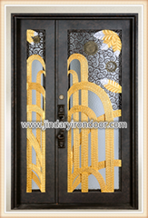 single door with one sidelight square top