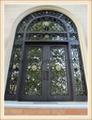 wrought iron door Custom Round Top