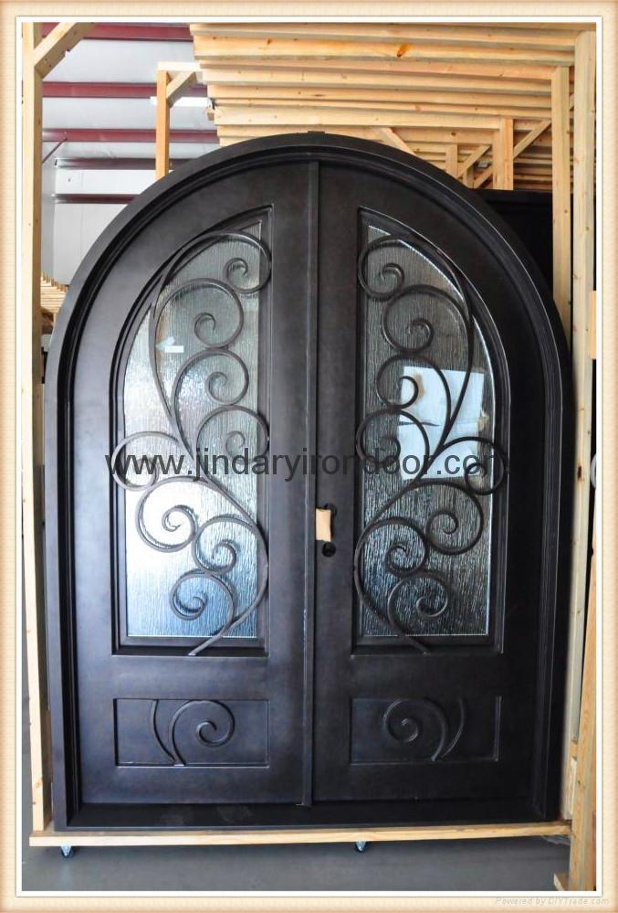 Wrought Iron Door Front Iron Door Glass Entry Door Jdl M 100