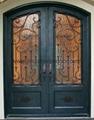 Double Wrought Entry Door,iron door