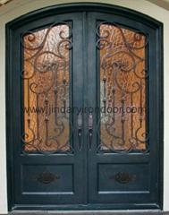 Double Wrought Entry Door,iron door forged steel door front door