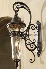 Wrought iron lamp
