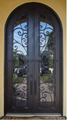 Wrought iron,half round,double door