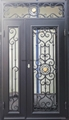 square-single door with sidelight