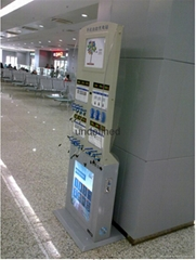 Free-standing Mobile phone charging Station with Light box
