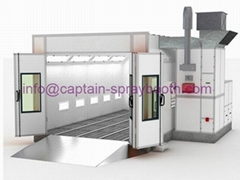 Automotive spray paint booth