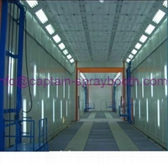 Auto spray paint booth, drying chamber