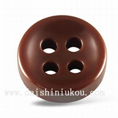 Polished Brown Shirt Button for Men