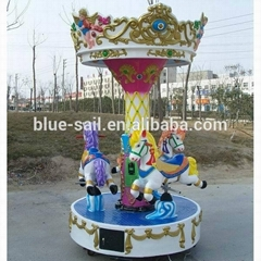 outdoor playground kiddie ride 3 Seats Mini Carousel For Sale