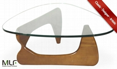 "MLF® Isamu Noguchi Table (5 Colors). Safe 3/4"" Tempered Glass"