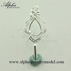 Alpha jewelry master silver model rubber silicone mold maker and