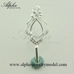 Jewelry Master Si  er Model rubber mold 3d cad design