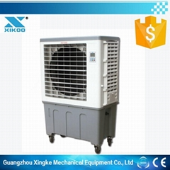 7500M3/H 3 side air inlet mobile water air cooler with 120L high water tank