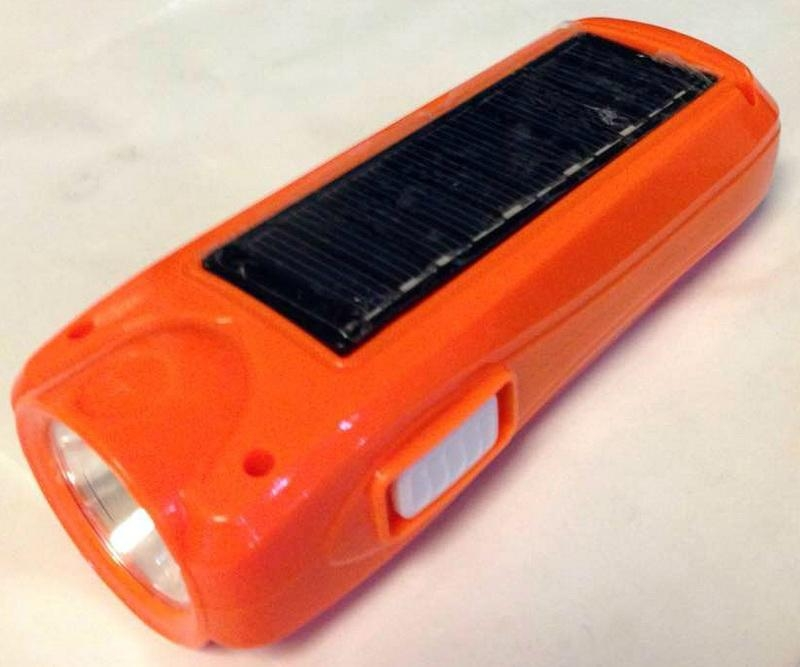 Rechargeable Solar LED Torch Flashlight 1