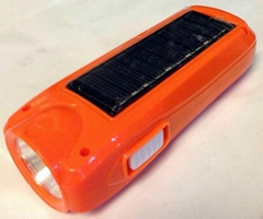 Rechargeable Solar LED Torch Flashlight