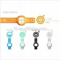 Silica gel watch with thermometer and