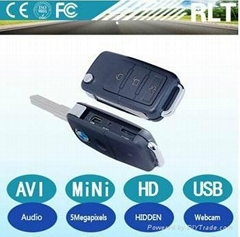 HD 5megapixels 1280*960 30fps AVI PC webcam function car key hidden camera
