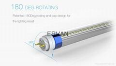 TUV VDE Listed ERVAN LED Tube T8 130lm/w 17w 0.9m commercial lighting