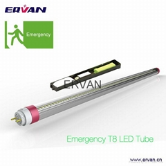 5 hours Emergency T8 tube with NI-MH battery LED Industrial lamp