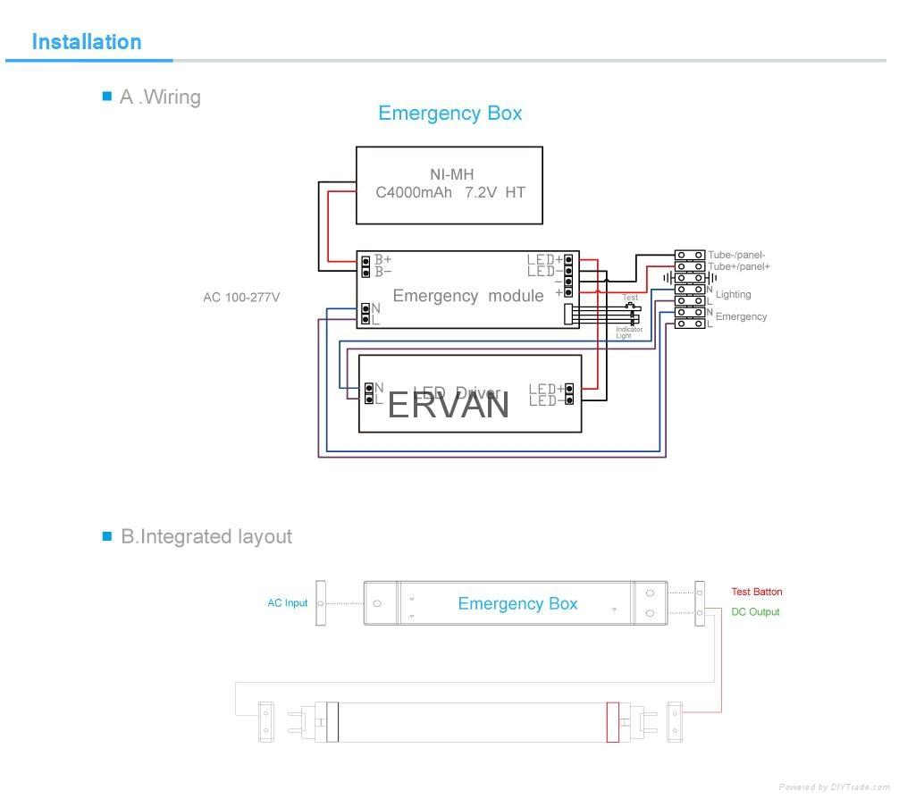 ERVAN TUV  600MM 9W LED emergency lights 13
