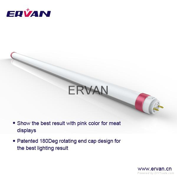 ERVAN Meat T8 LED Tube Pink Tube 30w 5ft for supermarket 10