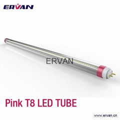 1200mm 20w t8 pink red tube for Meat market, Meat lighting Tube