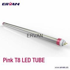 High CRI 18w T8 LED tube,pink tube for refrigerator lighting