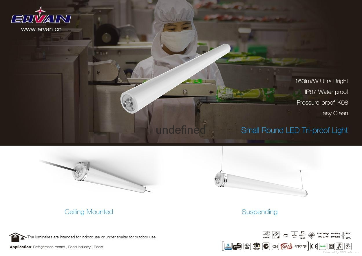 IP69K Anti-oil Food Industry lamp tri-proof light 1