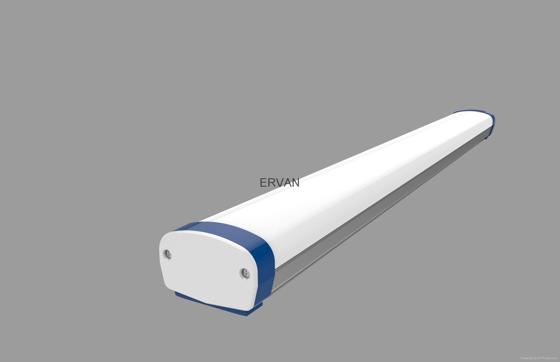 Ip65 Waterproof Fluorescent Lighting Fixture T8 2x18w 2x36w 2x40w 2x58w
