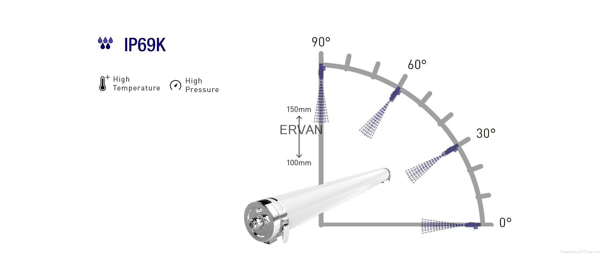 ip69k rancher luminaire tubular 1500mm 48w - t60