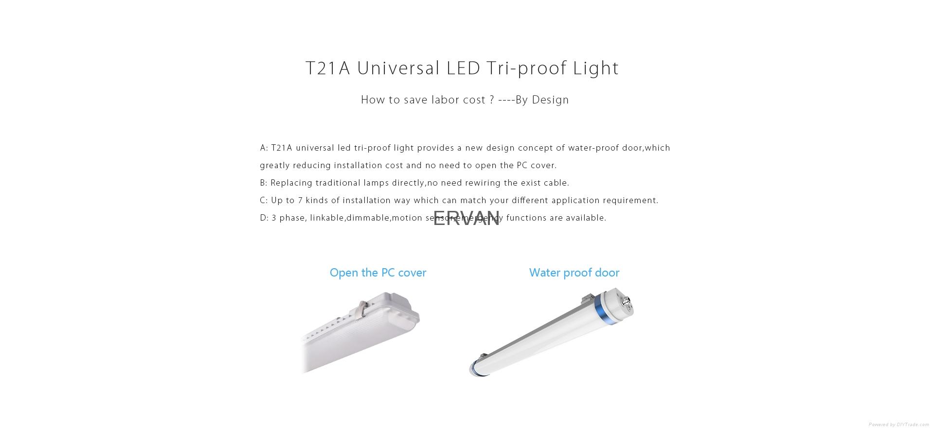 5ft wireless control motion sensor High power T21 Universal Weather proof light  9