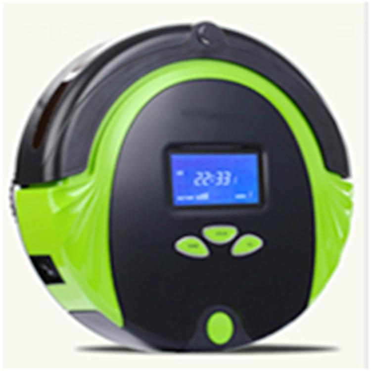 Automatic robot vacuum cleaner for household with red green color via romote con 1