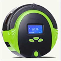 Automatic robot vacuum cleaner for household with red green color via romote con