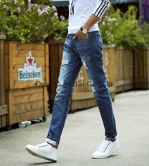 men denim jeans straight fashion style pants for wholesales