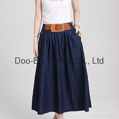 jeans wear women jeans skirt for wholesale made in china