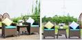 戶外傢具藤椅組合五件套藤編桌椅休閑陽台仿藤餐桌椅庭院花園桌椅 4