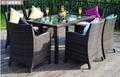 戶外傢具藤椅組合五件套藤編桌椅休閑陽台仿藤餐桌椅庭院花園桌椅 3