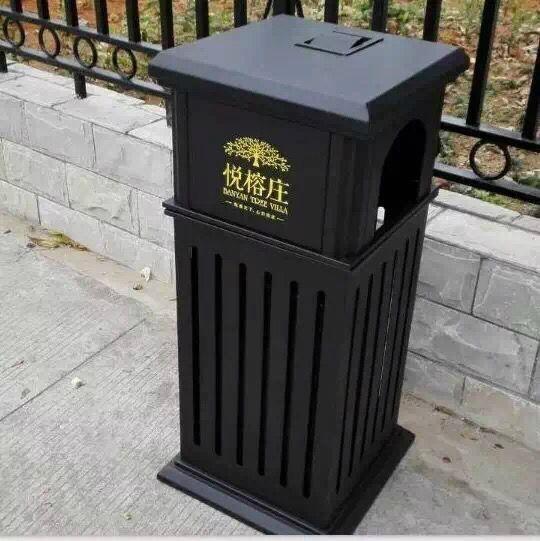 廠家直銷戶外公園垃圾桶鋼結構戶外垃圾桶果殼箱 1