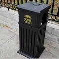 厂家直销户外公园垃圾桶钢结构户